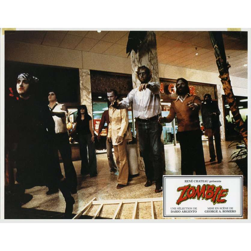 DAWN OF THE DEAD French Lobby card N1 9x12 - 1979 - George A. Romero, Tom Savini