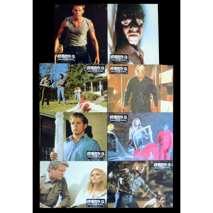 Friday THE 13TH French Lobby cards x8 9x12 - 1980 - Sean S. Cunningham, Kevin Bacon