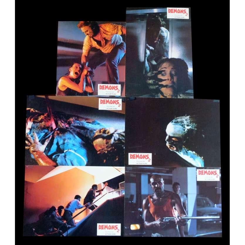 DEMONS 2 French Lobby cards x6 9x12 - 1986 - Lamberto Bava, Asia Argento