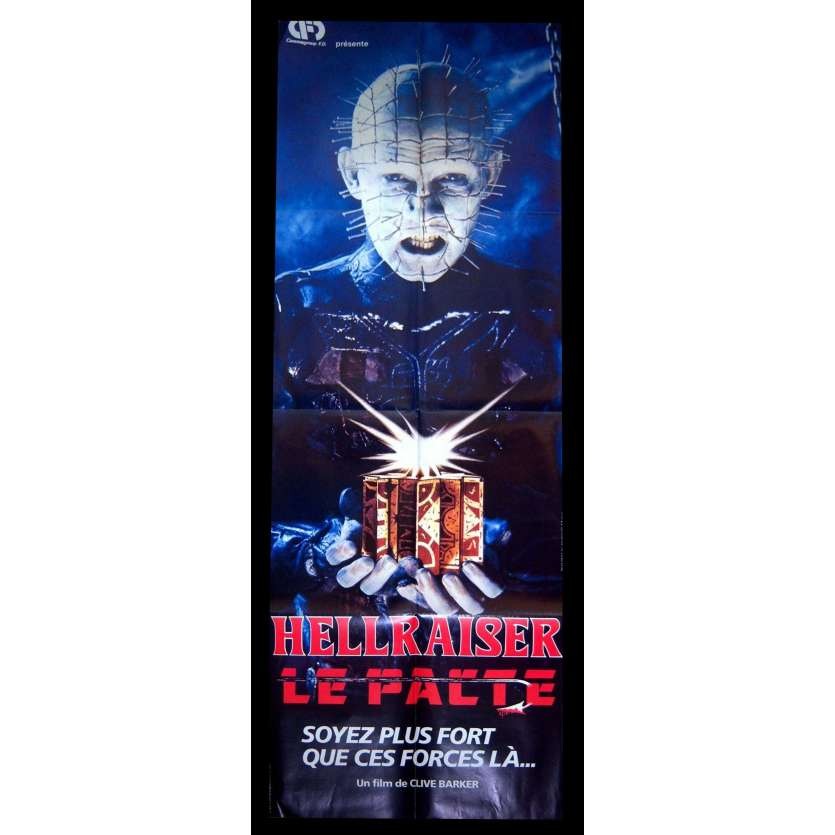 HELLRAISER French Movie Poster 23x63 - 1987 - Clive Barker, Doug Bradley