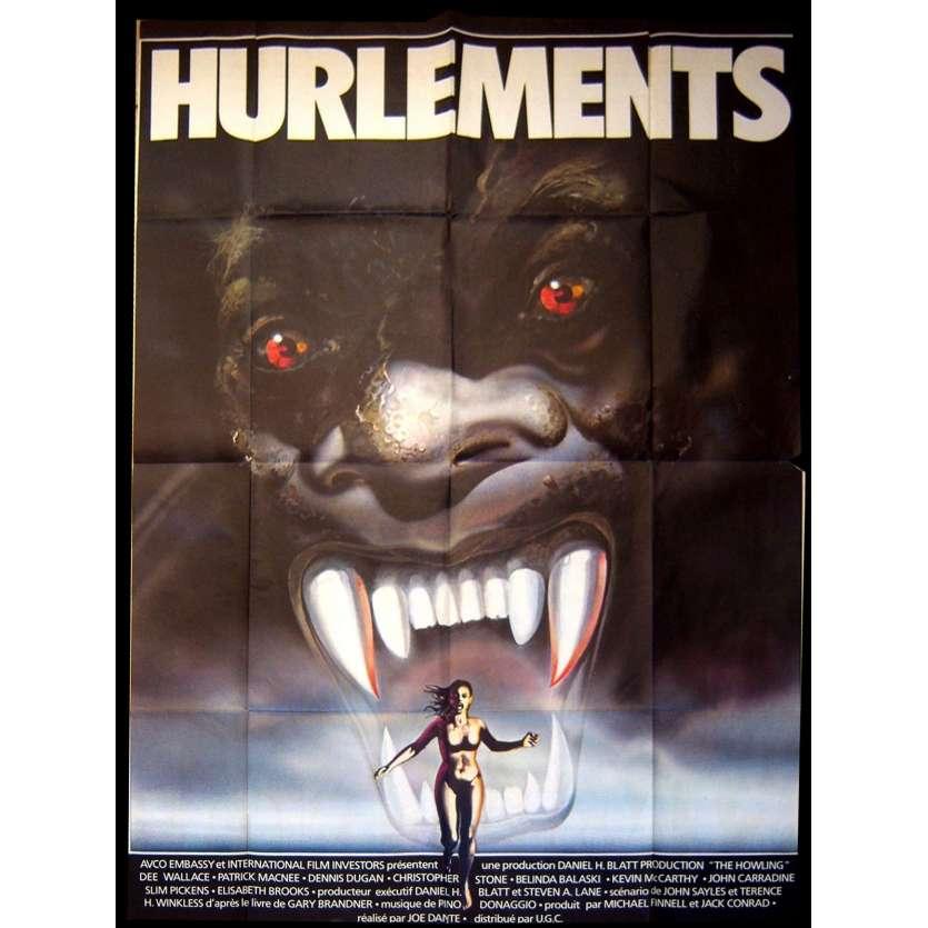 HURLEMENTS Affiche de film 120x160 - 1981 - Dee Wallace, Joe Dante