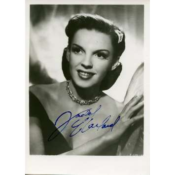 JUDY GARLAND Photo DeLuxe signée 12x17 - 1950'S - ,