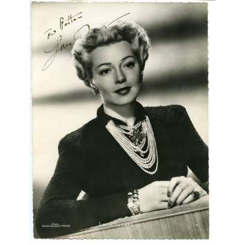 LANA TURNER Photo DeLuxe signée 18x24 - 1944 - ,