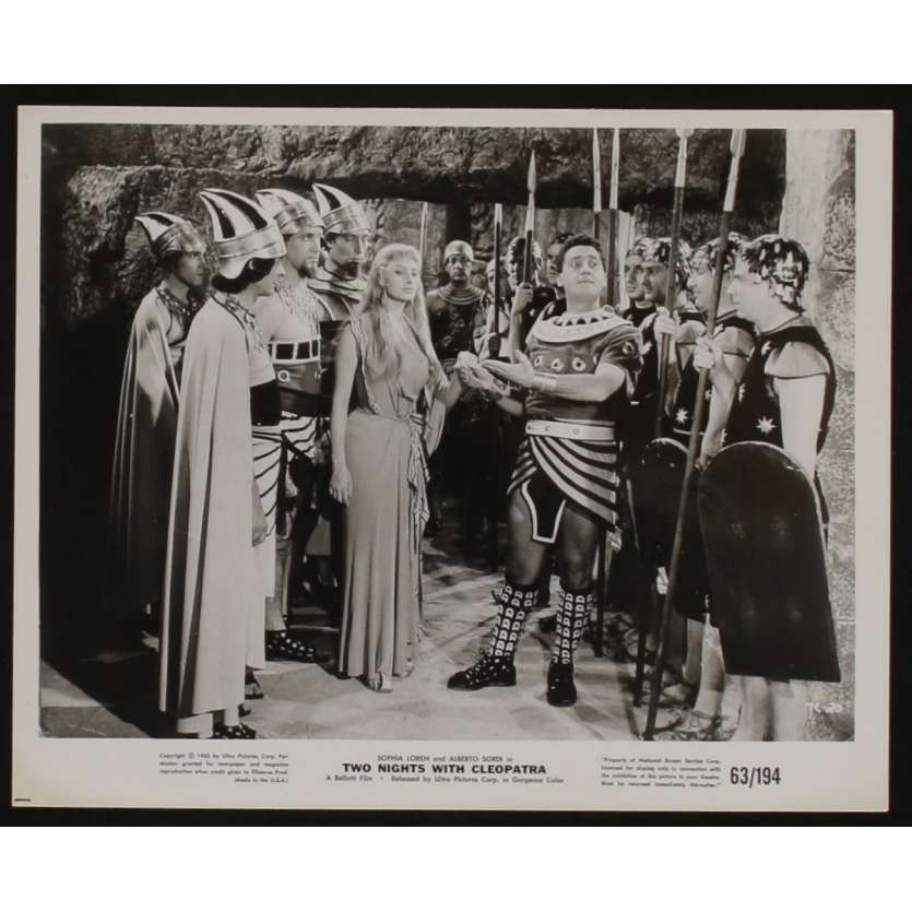TWO NIGHTS WITH CLEOPATRA US Movie Still 8x10 - 1968 - , SOPHIA LOREN