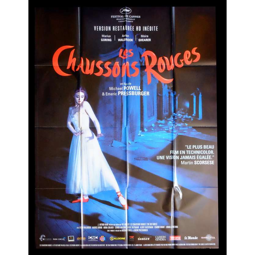 RED SHOES French Movie Poster 47x63 - R2007 - Powell-Pressburger, Moira Sheerer
