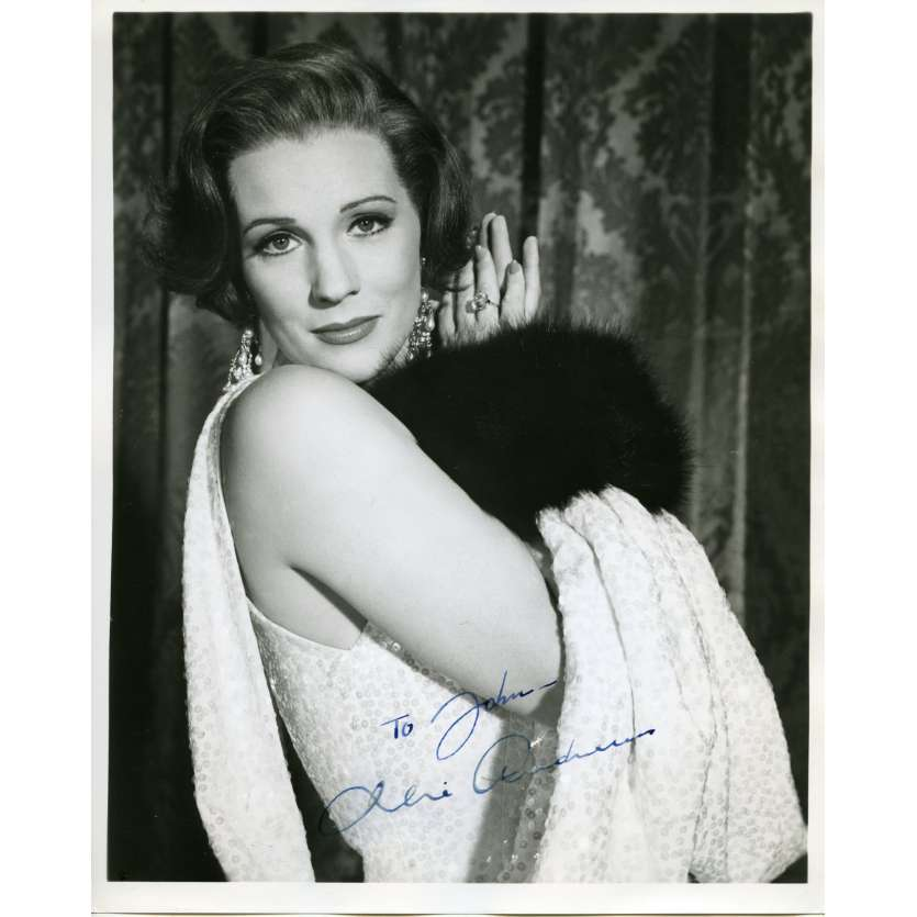 JULIE ANDREWS Photo Signée 20x25 - 1960'S - ,