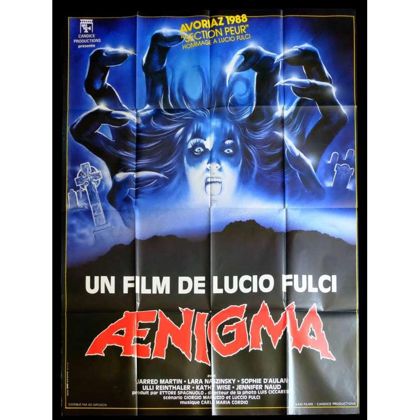 AENIGMA French Movie Poster 47x63 - 1987 - Lucio Fulci, Jared Martin