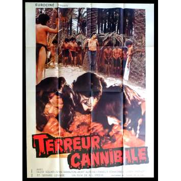 CANNIBAL TERROR French Movie Poster 47x63 - 1980 - Alain Deruelle, Sylvia Solar