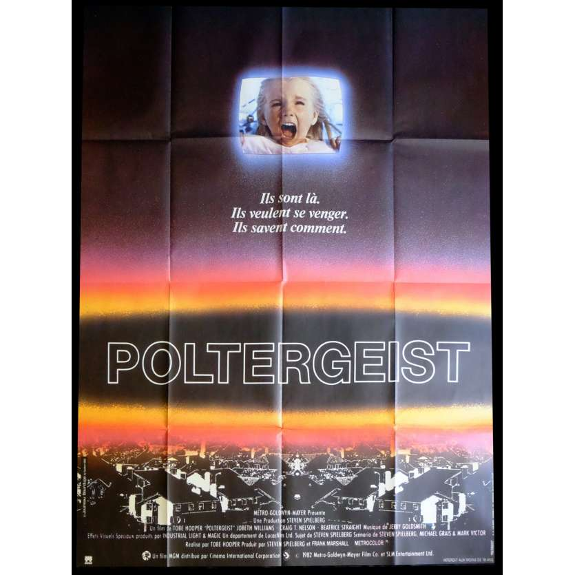 POLTERGEIST French Movie Poster 47x63 - 1989 - Tobe Hooper, Heather O'Rourke