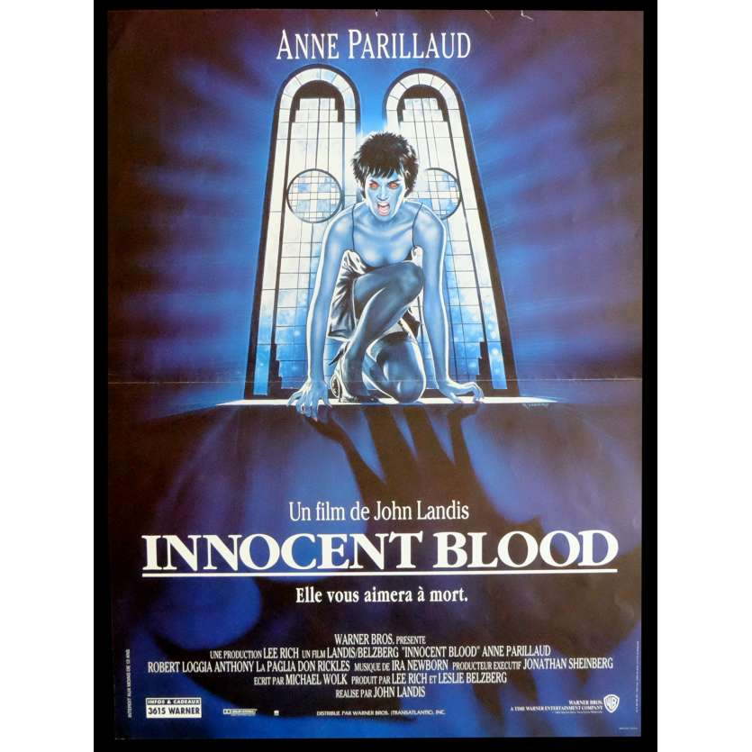 INNOCENT BLOOD Affiche de film 40x60 - 1992 - Anne Parillaud, John Landis