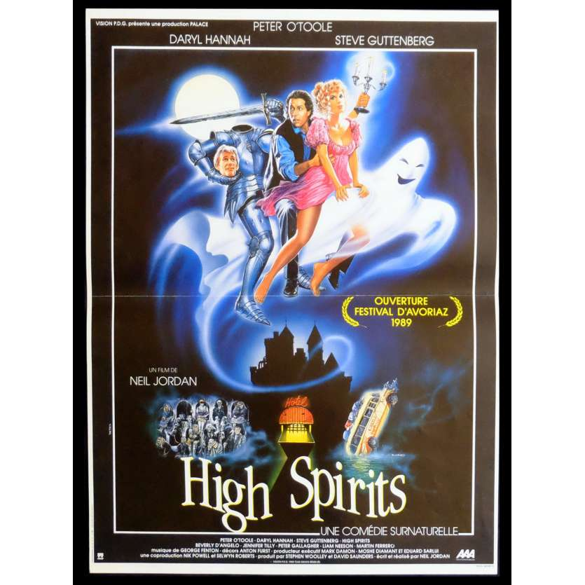 HIGH SPIRITS French Movie Poster 15x21 - 1988 - Neil Jordan, Peter O'Toole