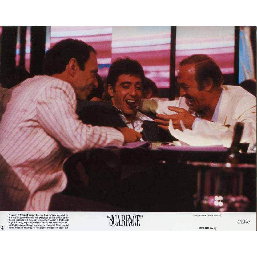 SCARFACE US Lobby Card N4 8x10 - 1983 - Brian de Palma, Al Pacino
