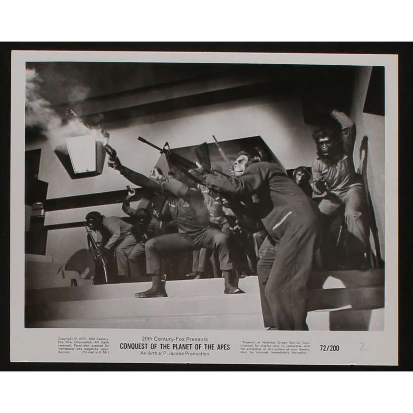CONQUEST OF THE PLANET OF THE APES US Movie Still N4 8x10 - 1972 - J. Lee Thomson, Roddy McDowall