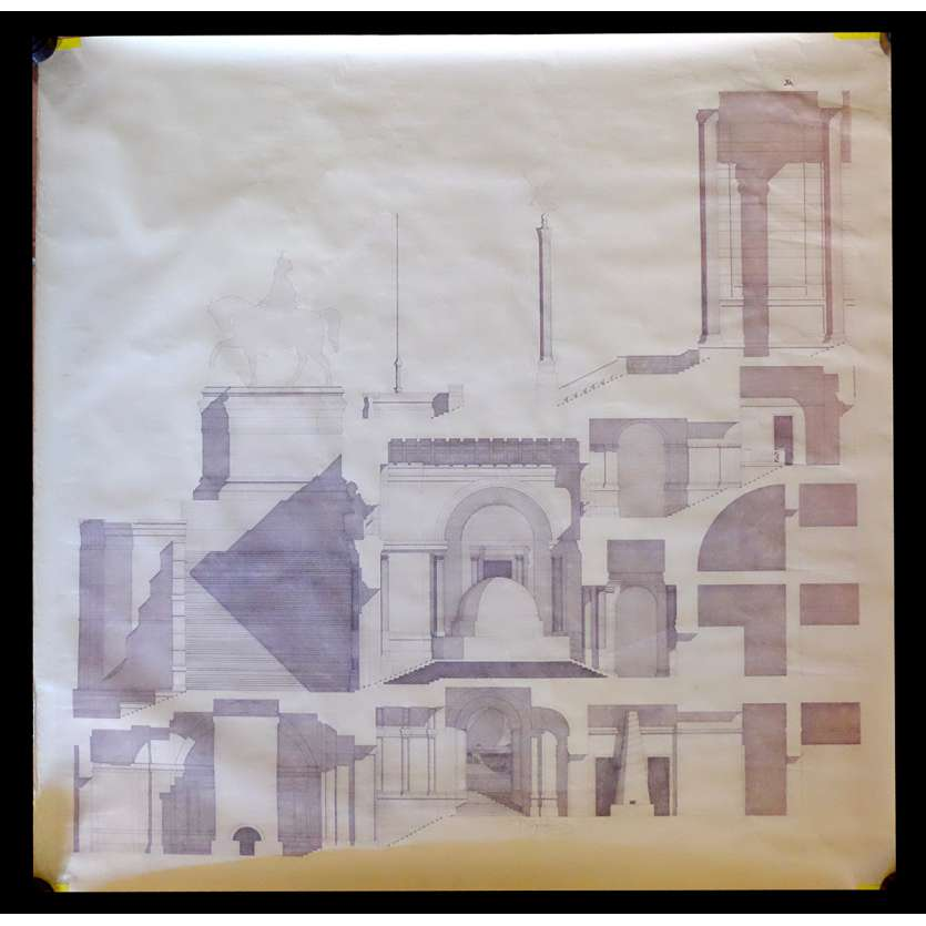 BELLY OF AN ARCHITECT Signed SCREEN-USED Movie Prop by Peter Greenaway - 47x49 - 1987