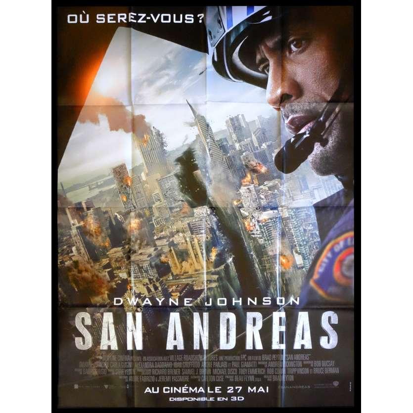 SAN ANDREAS Def. Affiche de film 120x160 - 2015 - Dwayne Johnson, Brad Peyton