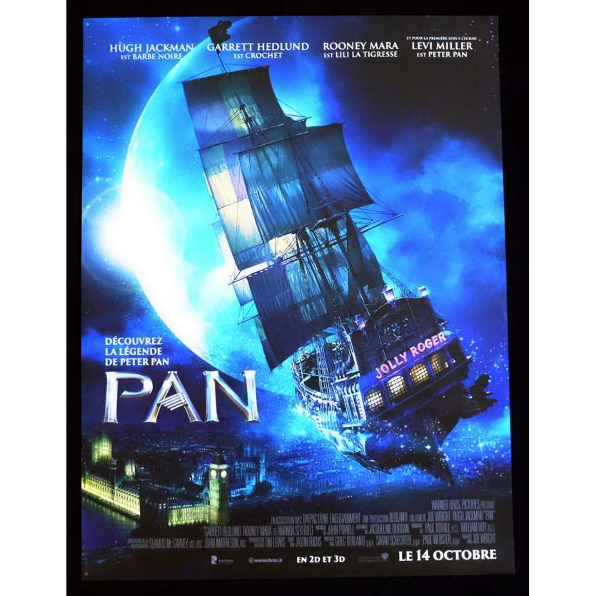 PAN French Movie Poster 15x21 - 2015 - Joe Wright, Hugh Jackman