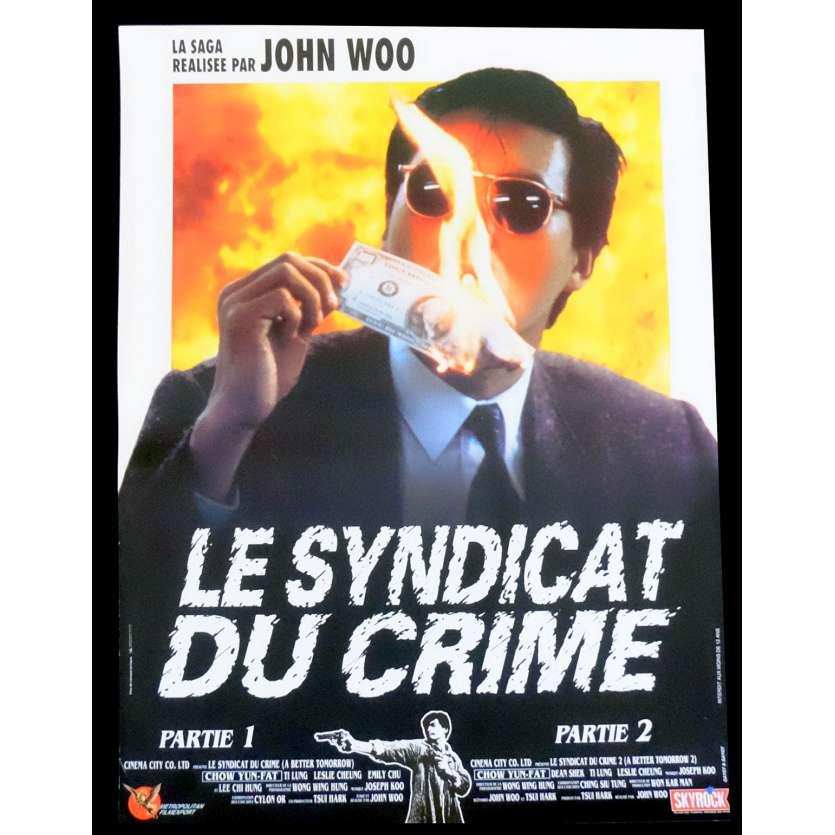 LE SYNDICAT DU CRIME Affiche de film 40x60 - 1986 - Chow Yun-fat , John Woo