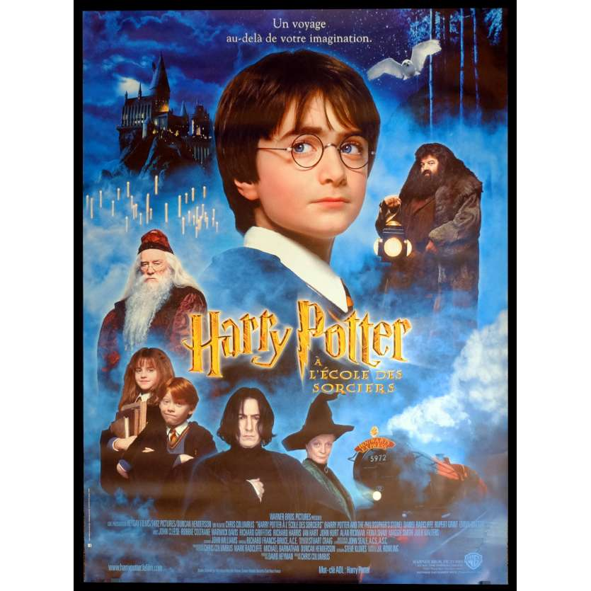 HARRY POTTER Affiche de film 120x160 - 2001 - Daniel Radcliffe, Chris Colombus