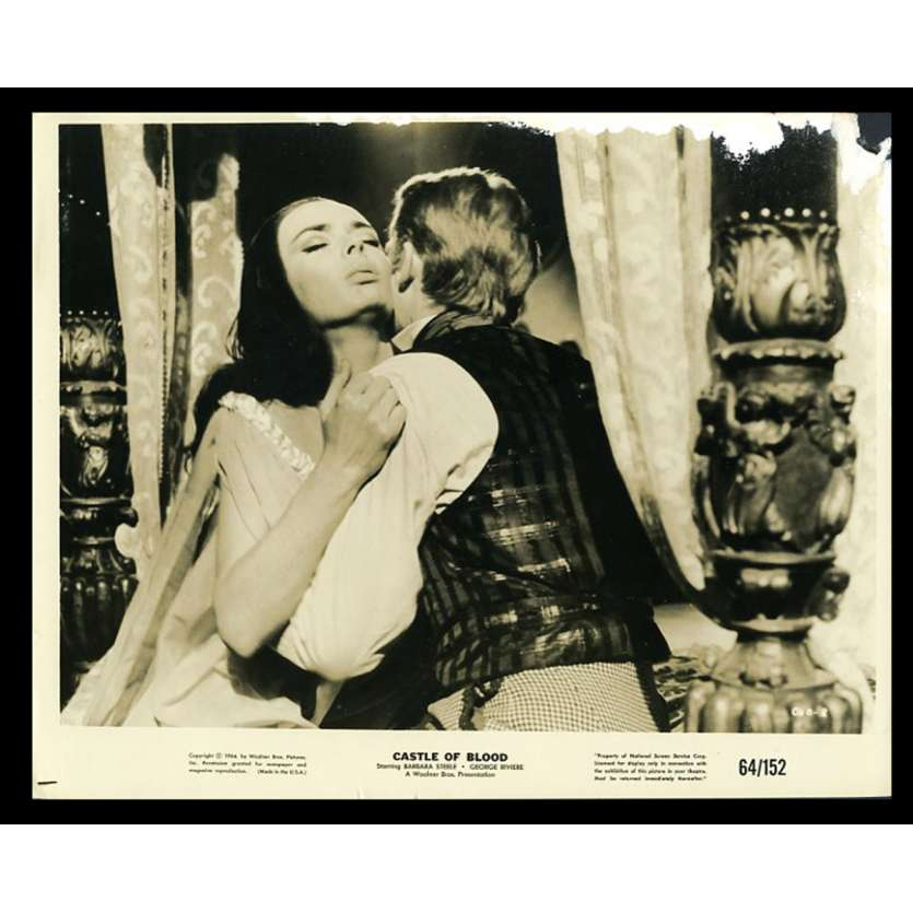 CASTLE OF BLOOD US Movie Still 8X10 - 1964 - Sergio Corbucci, Barbara Steele