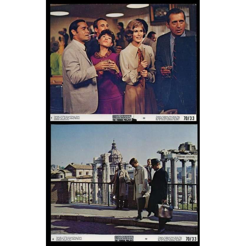 LE CERVEAU D'ACIER Photos de film x2 20x25 - 1970 - Eric Braeden, Joseph Sargent