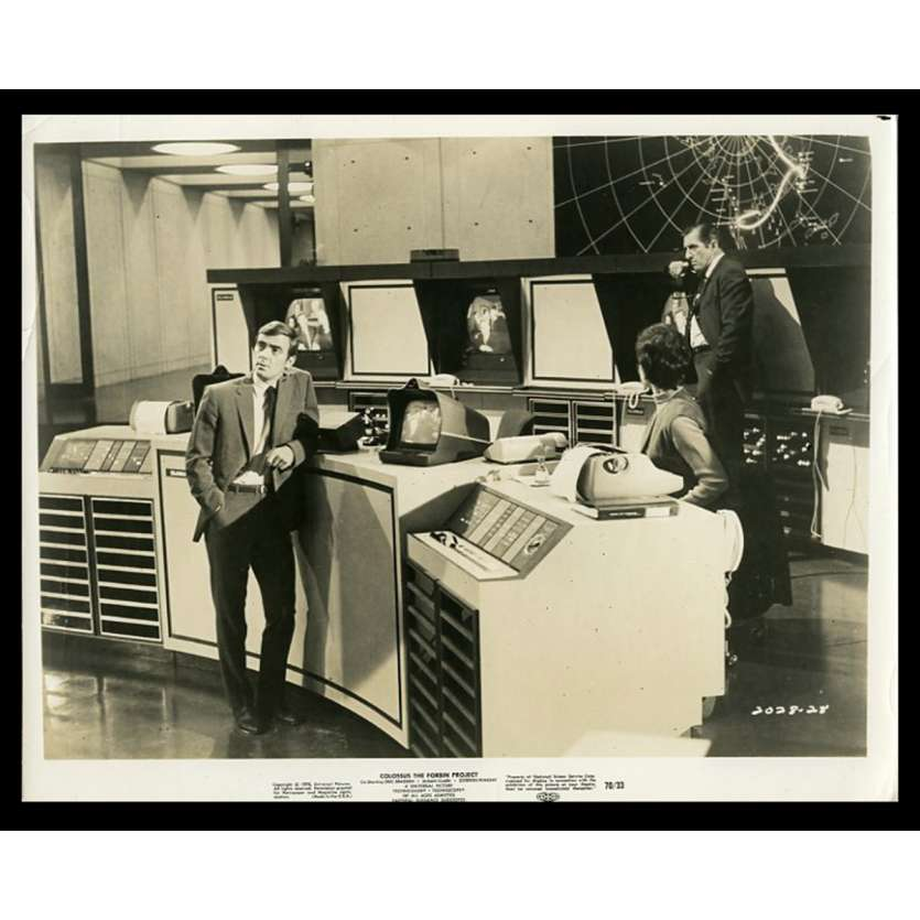 COLOSSUS THE FORBIN PROJECT US Movie Still 8X10 - 1970 - Joseph Sargent, Eric Braeden