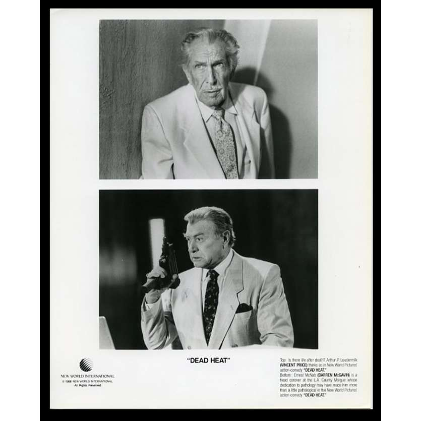 DEAD HEAT US Movie Still 8X10 - 1988 - Marc Goldblatt, Vincent Price