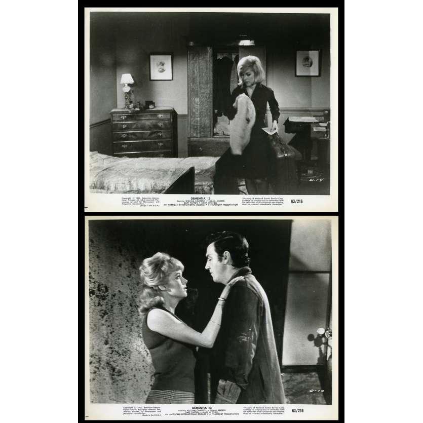 DEMENTIA 13 Photos de presse x2 20x25 - 1963 - William Campbell, Francis Ford Coppola
