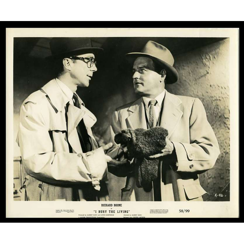 I BURY THE LIVING US Movie Still 8X10 - 1958 - Albert Band, Richard Boone