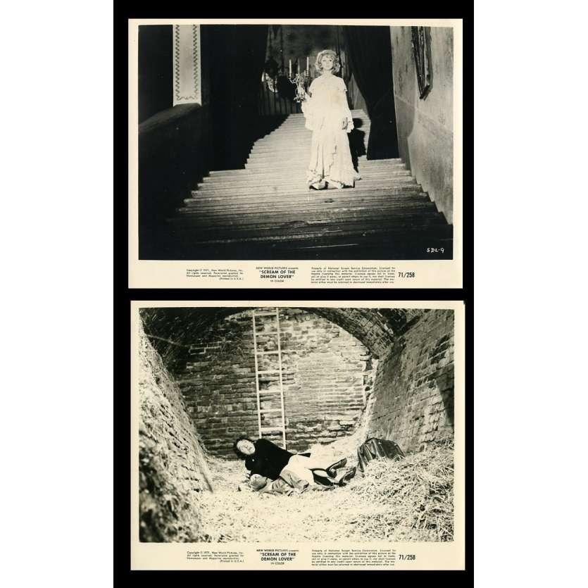 SCREAM OF THE DEMON LOVER US Movie Stills x2 8X10 - 1971 - José Luis Merino, Erna Shurer