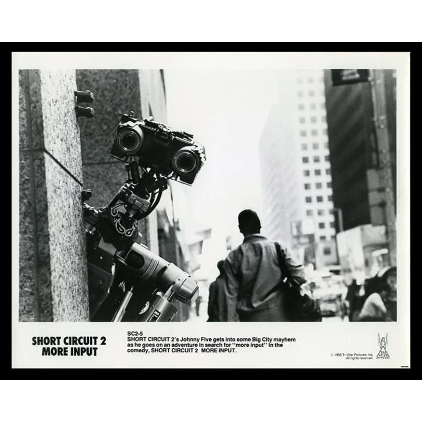APPELEZ MOI JOHNNY 5 Photo de presse 20x25 - 1988 - Fisher Stevens, Kenneth Johnson