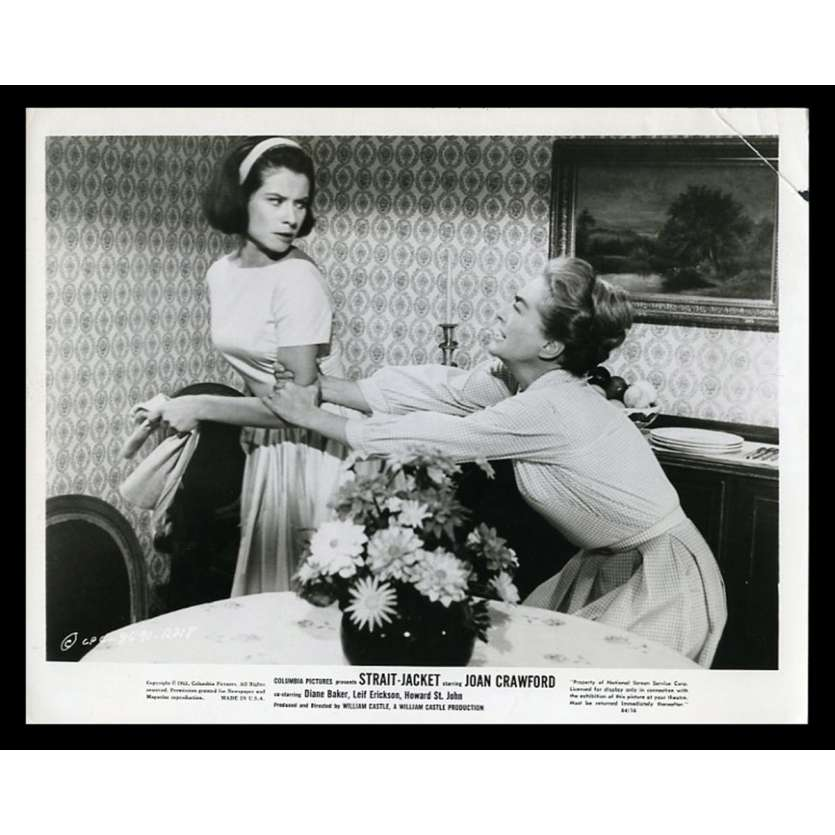 STRAIGHT JACKET US Movie Still 8X10 - 1963 - William Castle, Joan Crawford