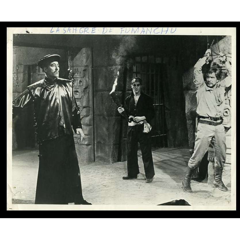 THE BLOOD OF FU MANCHU US Movie Still 8X10 - 1968 - Jesus Franco, Christopher Lee