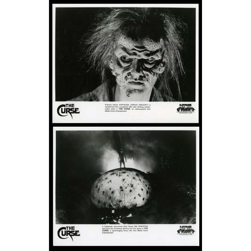 THE CURSE US Movie Stills x2 8X10 - 1987 - David Keith, Will Wheaton