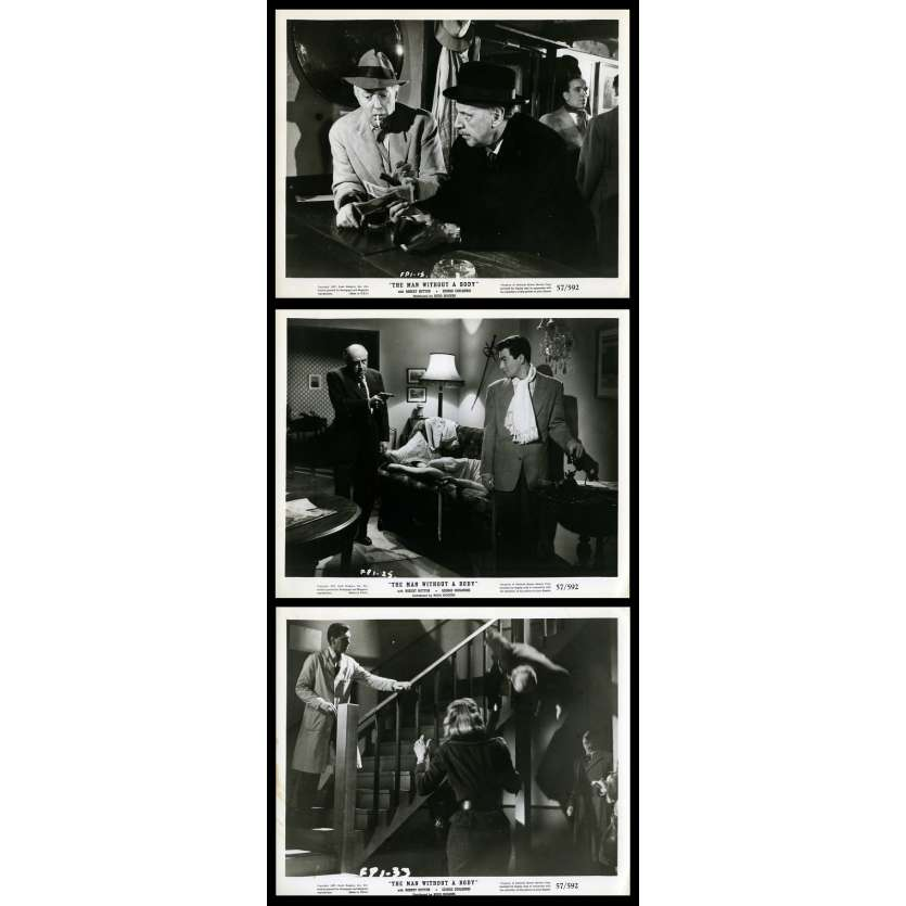 THE MAN WITHOUT A BODY Photos de presse x3 20x25 - 1957 - Robert Hutton, Budd Rogers