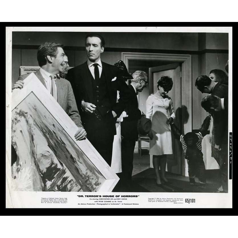 THE TERROR'S HOUSE OF HORROR US Movie Still 8X10 - 1965 - Amicus, Christopher Lee, Peter Cushing