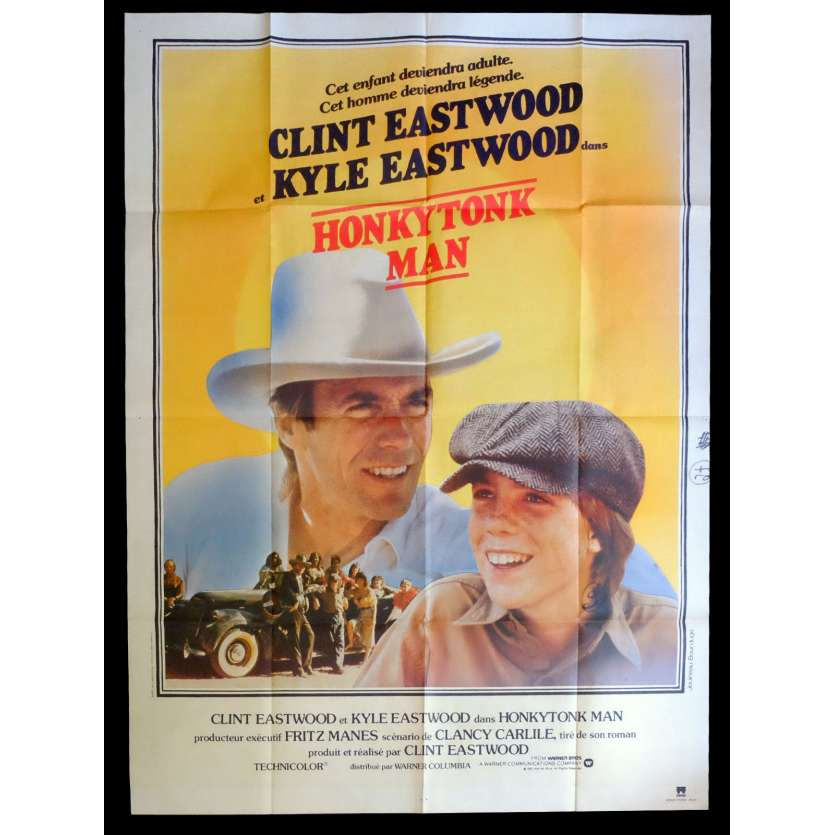 HONKYTONK MAN Affiche de film 120x160 - 1982 - Clint Easwood, Clint Easwood