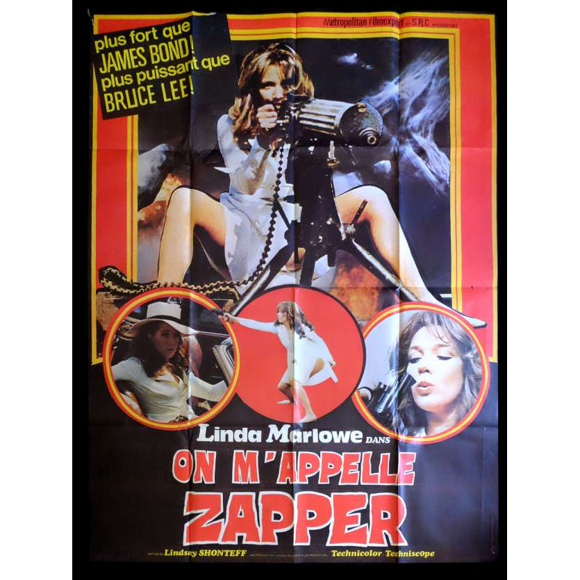 BIG ZAPPER French Movie Poster 47x63 - 1973 - Lindsey Shonteff, Linda Marlowe