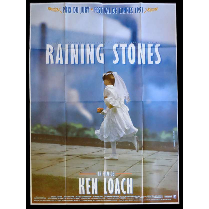RAINING STONES Affiche de film 120x160 - 1993 - Bruce Jones, Ken Loach