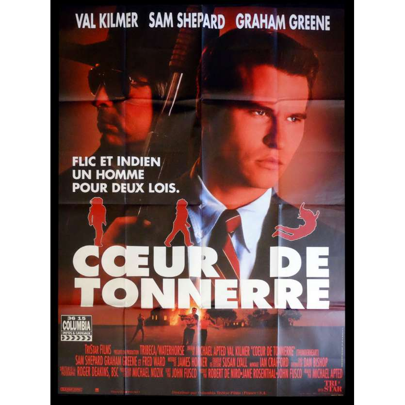 THUNDERHEART French Movie Poster 47x63 - 1992 - Michael Apted, Val Kilmer
