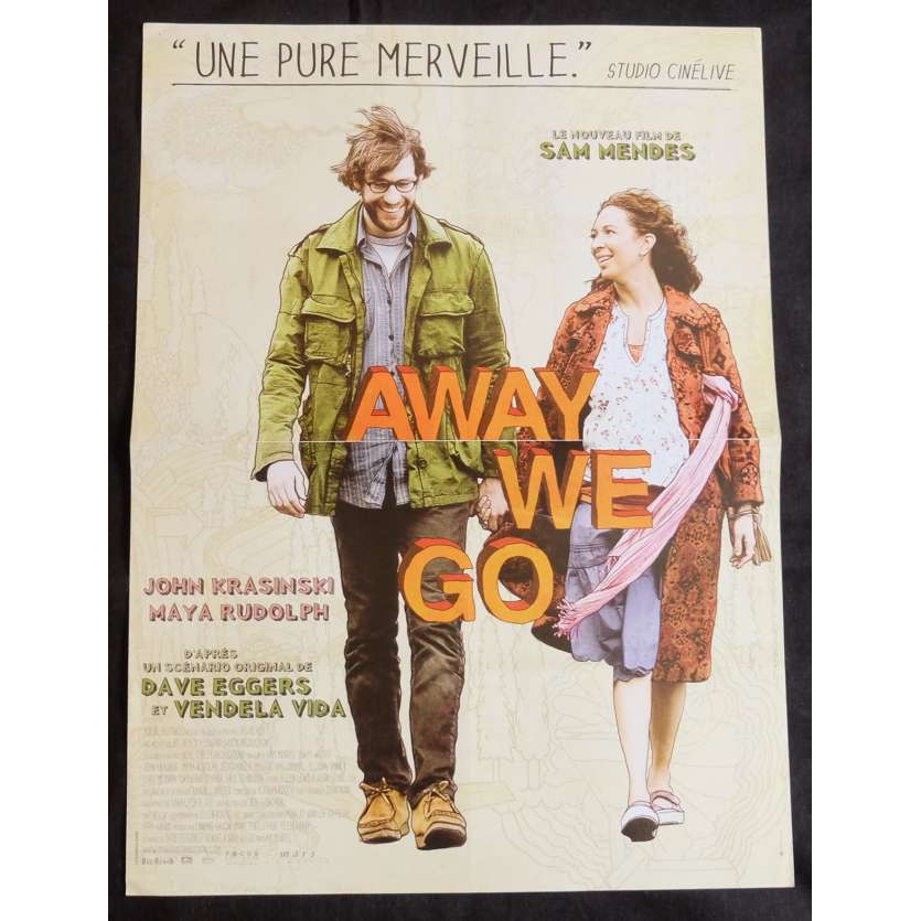 AWAY WE GO Affiche de film 40x60 - 2009 - John Krasinski, Sam Mendes