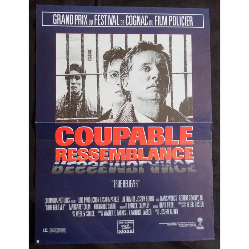 COUPABLE RESSEMBLANCE Affiche de film 40x60 - 1989 - Robert Downey Jr, Joseph Ruben
