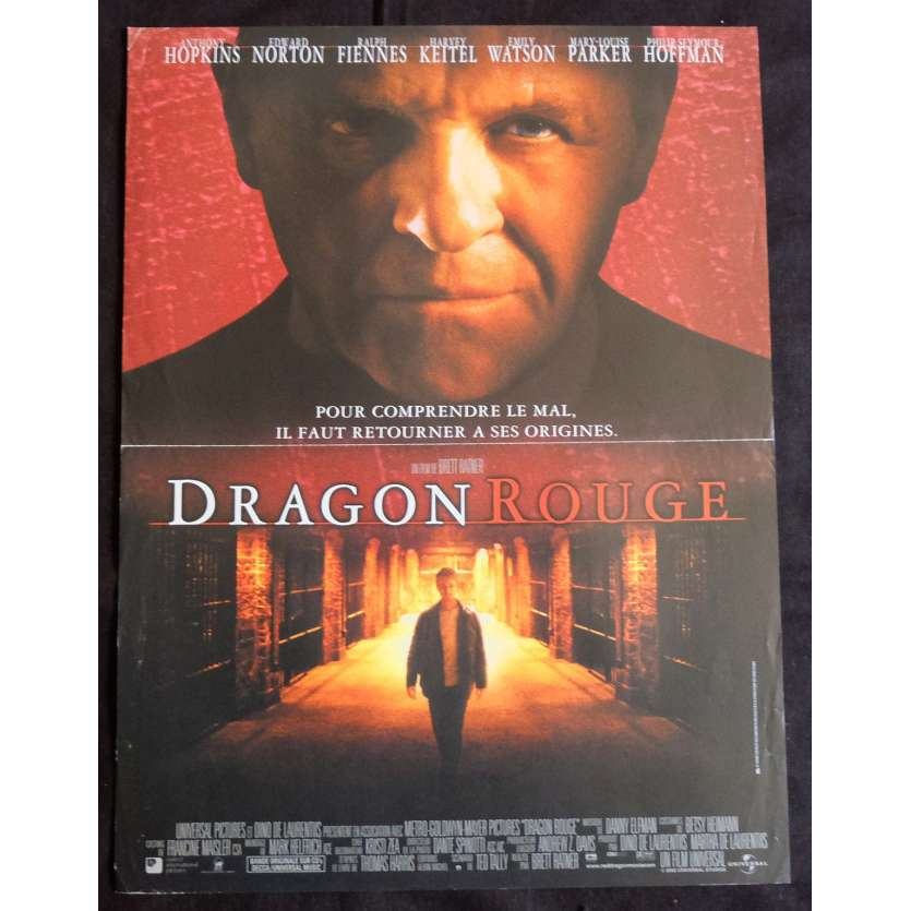 RED DRAGON French Movie Poster 15x21 - 2002 - Brett Ratner, Anthony Hopkins