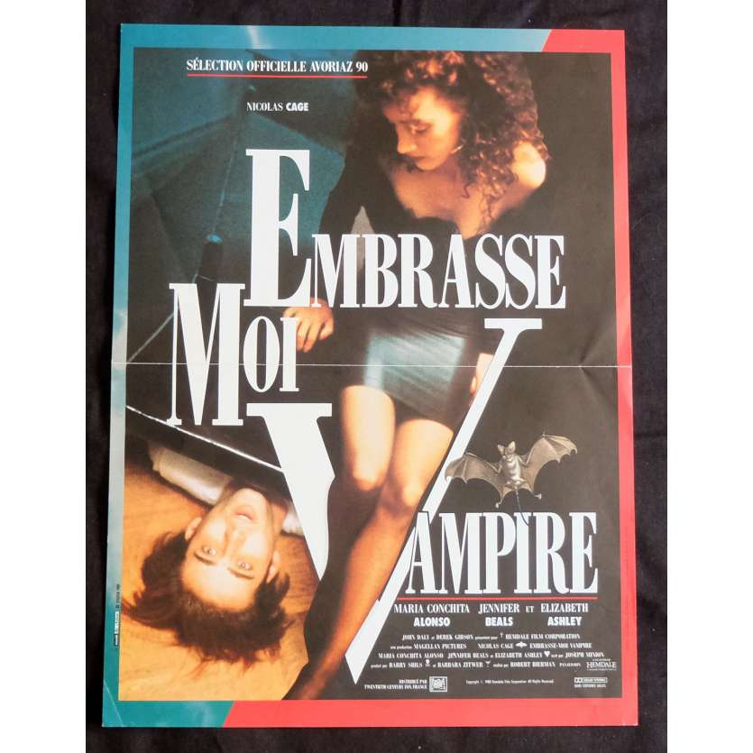 EMBRASSE MOI VAMPIRE French Movie Poster 15x21 - 1988 - Robert Bierman, Nicolas Cage