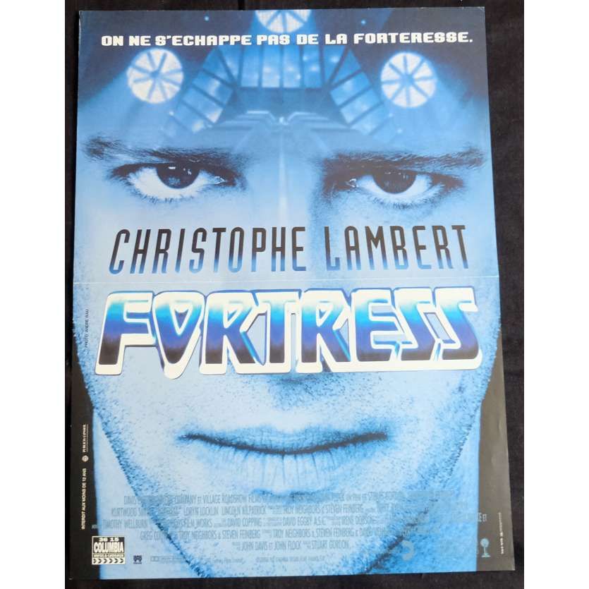 FORTRESS French Movie Poster 15x21 - 1992 - Stuart Gordon, Christophe Lambert
