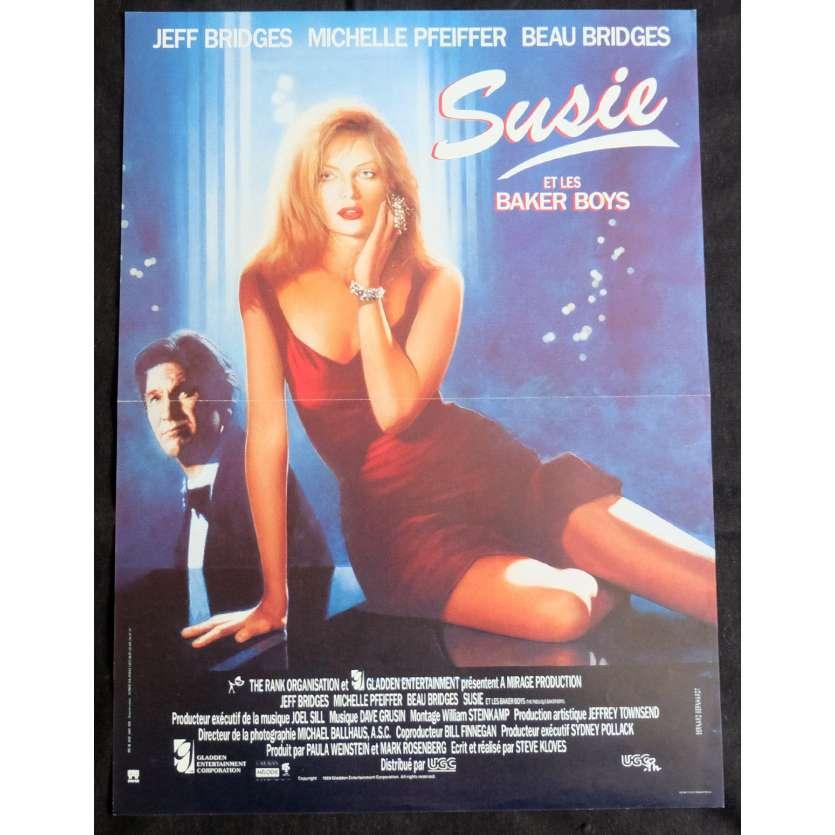 SUSIE ET LES BAKER BOYS Affiche de film 40x60 - 1989 - Michelle Pfeiffer, Steve Kloves