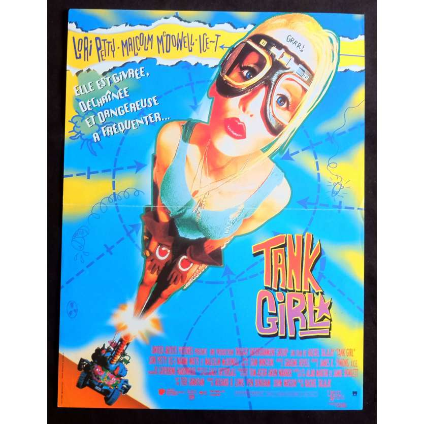 TANK GIRL Affiche de film 40x60 - 1995 - Ice T, Rachel Talalay