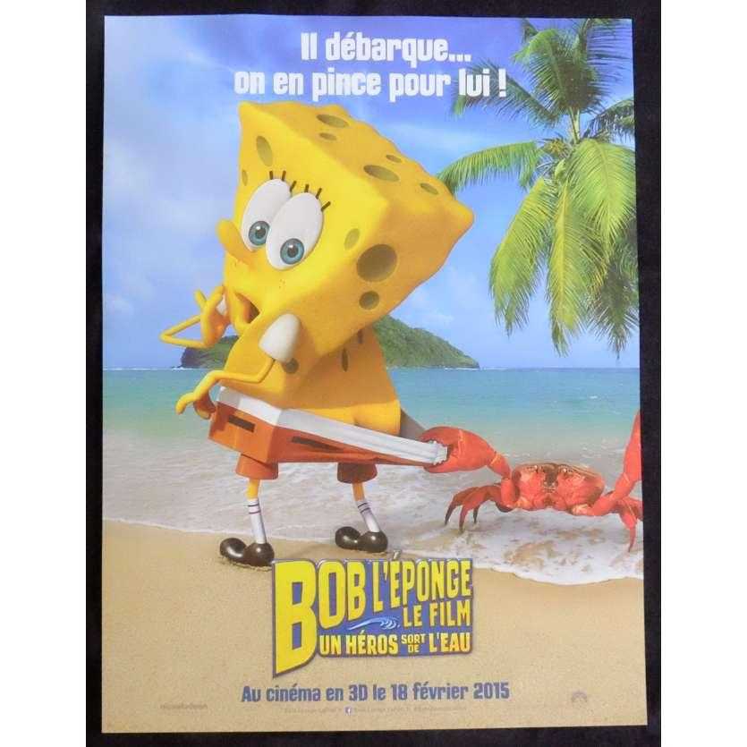SPONGE BOB Style B French Movie Poster 15x21 - 2014 - Paul Tibbit, Antonio Banderas