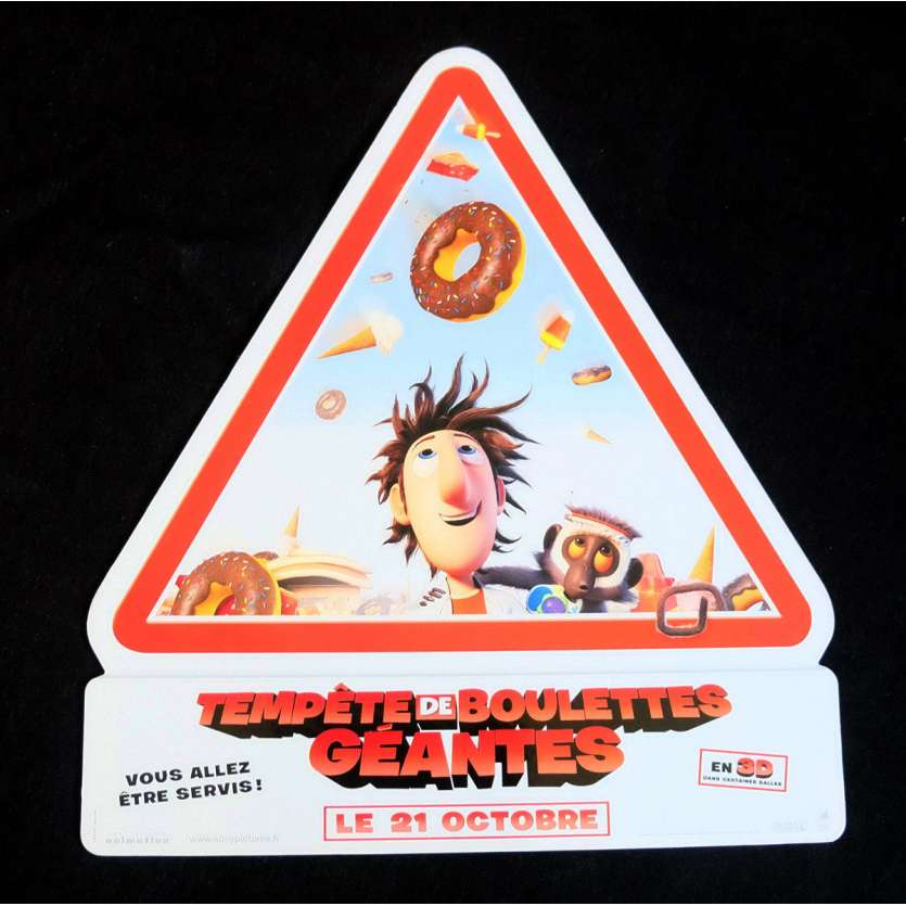 CLOUDY WITH A CHANCE OF MEATBALLS French Standee 10x11 - 2009 - Phil Lord, Anna Farris