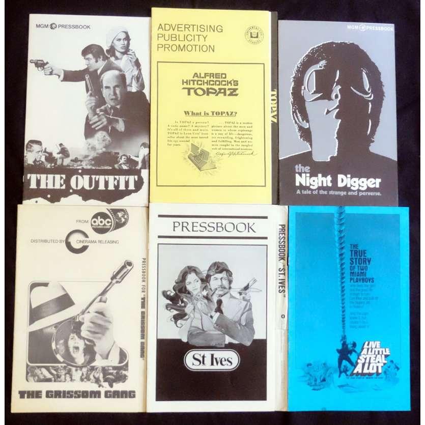 CRIME LOT 2 US Pressbook lot 11x15 - 1970's - Aldrich, Hitchcock, Charles Bronson, Robert Duvall