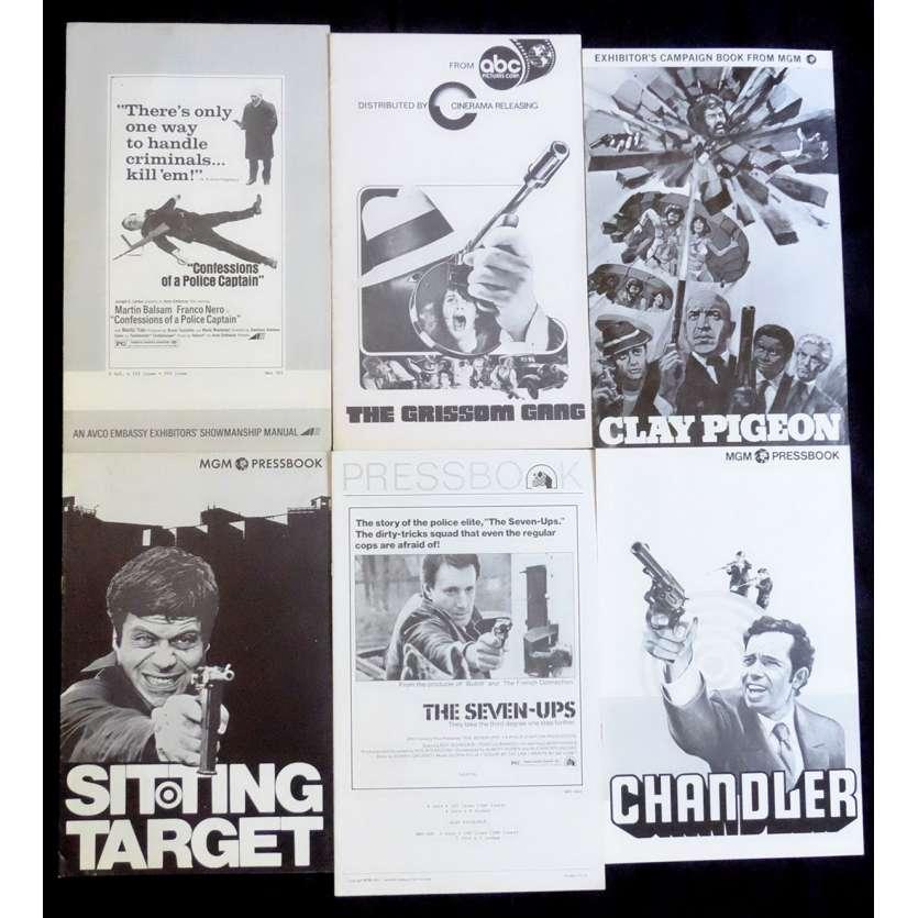 LOT POLAR 3 Dossiers de presse 28x43 - 1970's - Telly Savalas, Oliver Reed, Damiani, Aldrich